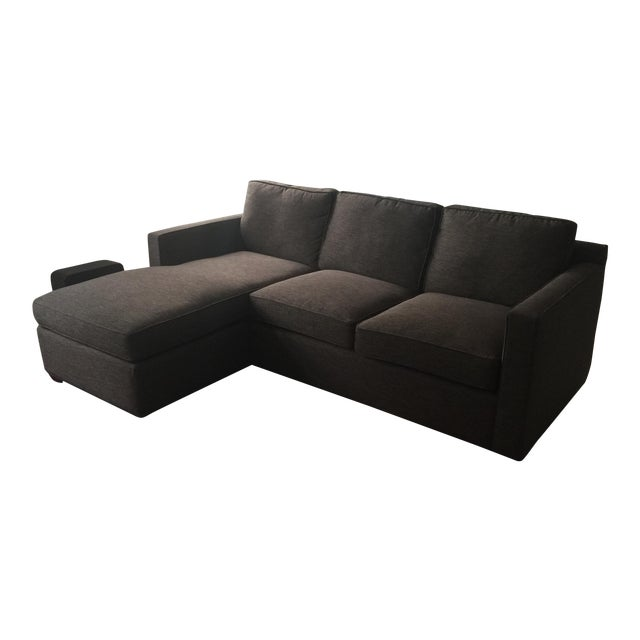 Incredible Crate Barrel Charcoal Davis 3 Seat Sofa Inzonedesignstudio Interior Chair Design Inzonedesignstudiocom