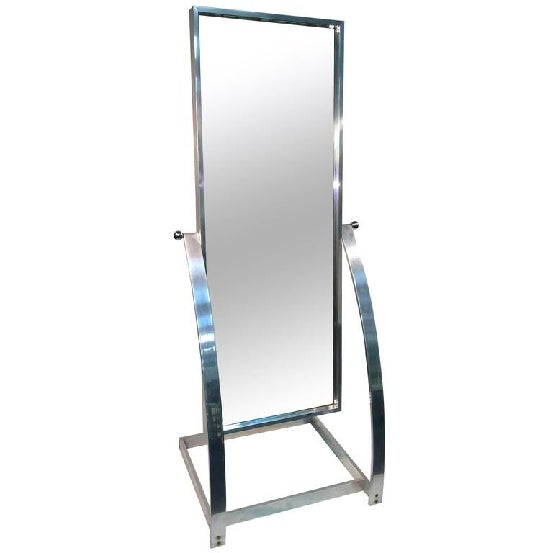 Great design aluminum frame with chromed ball accents full length adjustable angle mirror. Versatile mirror that can be...