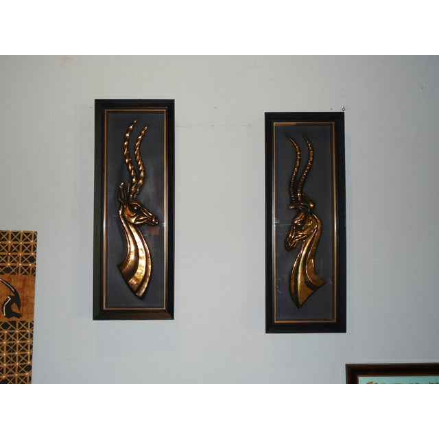 Hollywood Regency Gazelle Shadow Boxes - A Pair - Image 2 of 8