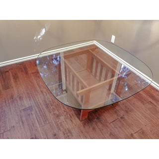 Modern Oak Glass Top Coffee Table Preview