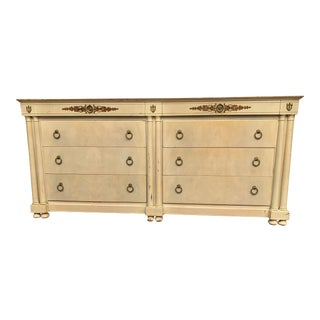 Mid 20th Century Faux Vellum Neoclassical Sideboard by Johnson Furniture For Sale