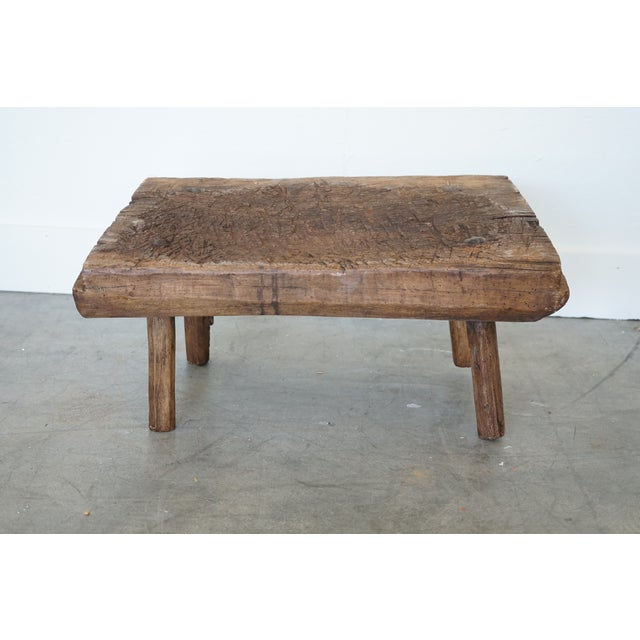 You're looking at a unique 19th century French primitive table featuring splayed legs and a gorgeous patina that can be...