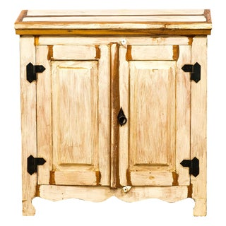 Handmade Reclaimed Peroba Rosa Wood 2 Door Cabinet/Sideboard For Sale
