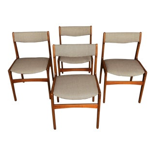 Vintage Mid Century Danish Teak Dining Chairs- Set of 4 For Sale