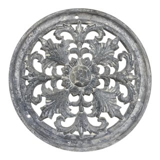 19th Century Cast Iron Medallion For Sale