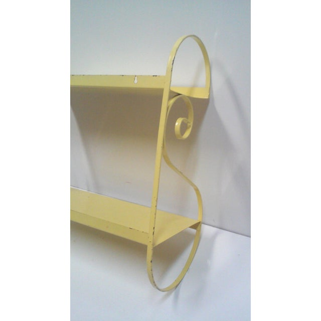 Vintage Hand Painted Yellow Wall Shelf - Image 6 of 6