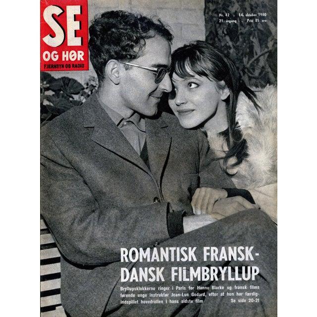 Vintage original 1960 Se Og Hør magazine featuring a fantastic Jean Luc Godard/Anna Karina cover that would look fantastic...
