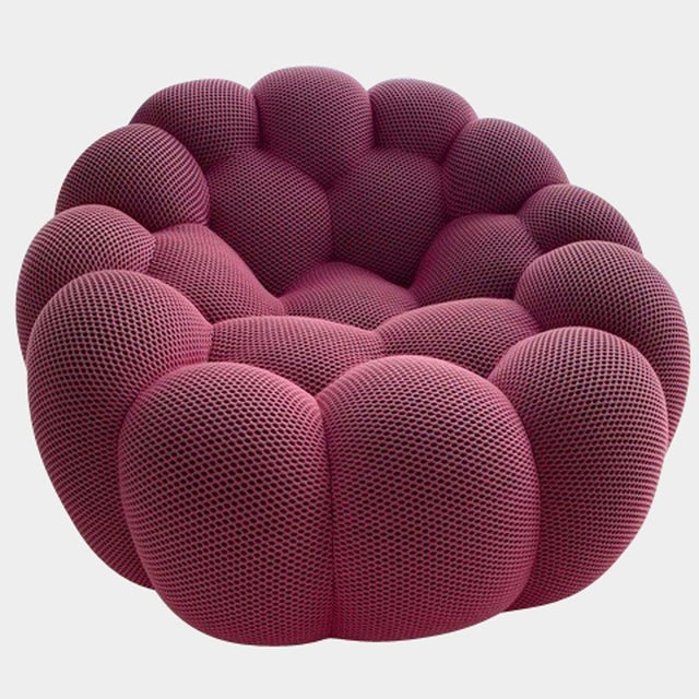 Contemporary Modern Roche Bobois Pink Bubble Swivel Chair For Sale - Image 3 of 3