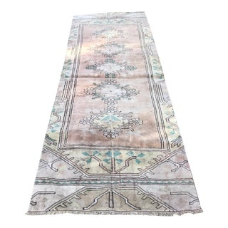 """1960s Vintage Anatolian Pastel Runner-3'x9"""" For Sale"""