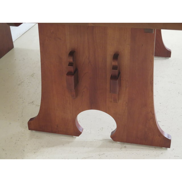 Stickley 1990s Vintage Stickley Cherry Mission Style Cherry Dining Room Table For Sale - Image 4 of 12