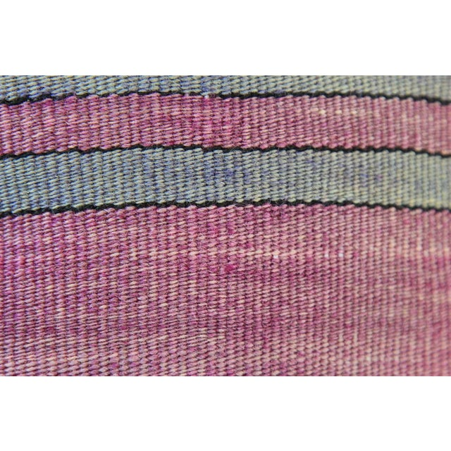 Vintage Turkish Striped Kilim Pillow Cover - Image 5 of 7