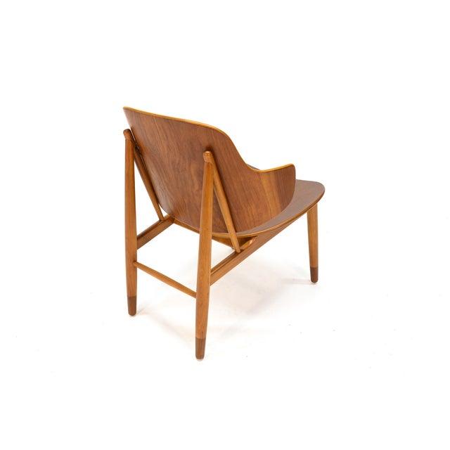 Kofod Larsen Teak Shell Lounge Chair - Image 4 of 7