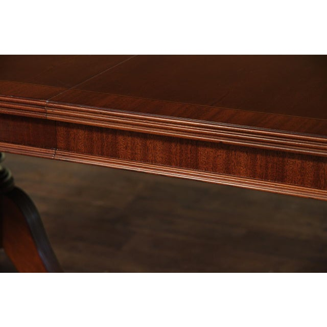 Formal Double Pedestal Mahogany Dining Table - Image 6 of 7