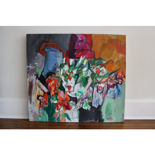 Modern Abstract Expressionist Still Life Painting - Image 2 of 4