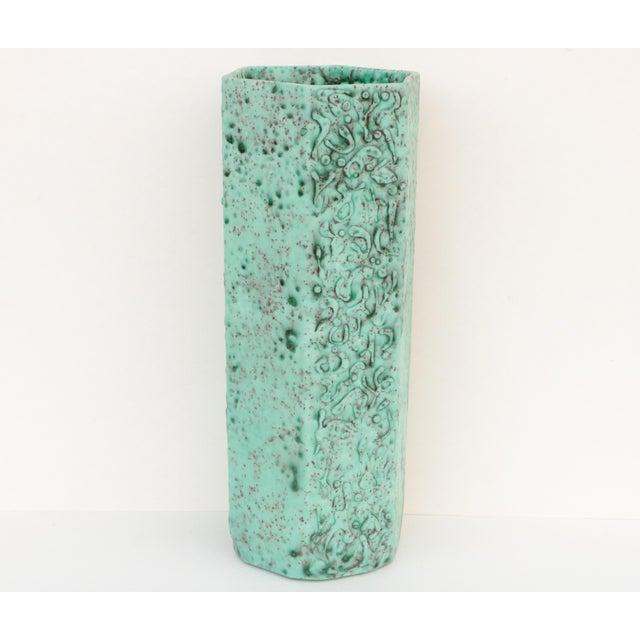 Sea Green Lava Foam Mid Century Vase For Sale - Image 11 of 11