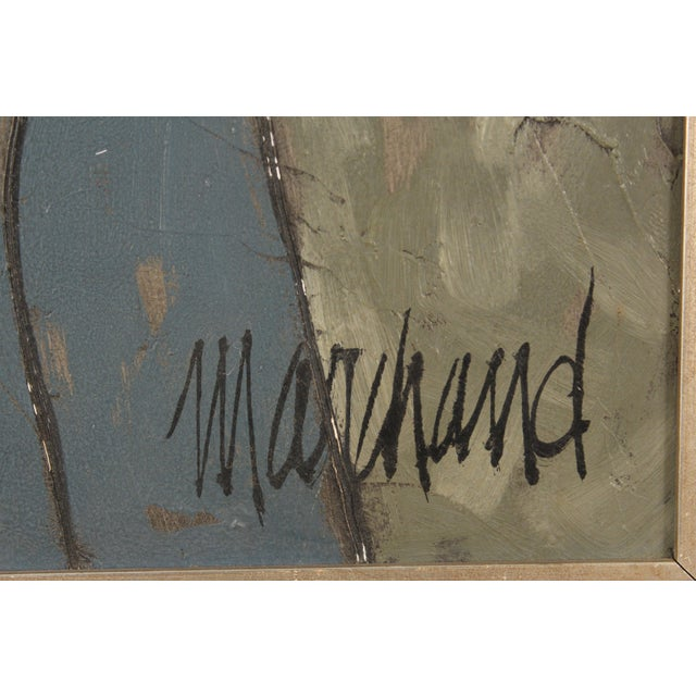 Painting of a Lady in Blue by Philippe Marchand For Sale - Image 12 of 13