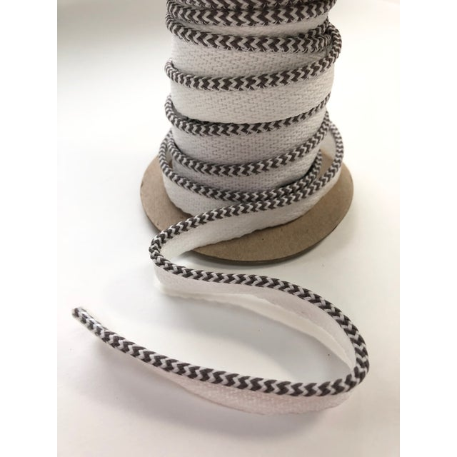 """Gray Braided 1/8"""" Indoor-Outdoor White-Gray Cord For Sale - Image 8 of 10"""