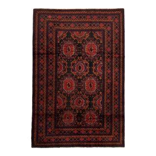"""Tribal Afghan Rug, 6'3"""" X 9'5"""" For Sale"""