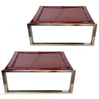 Vintage French G. Lefevre for Maison Jansen Side Tables - Pair For Sale