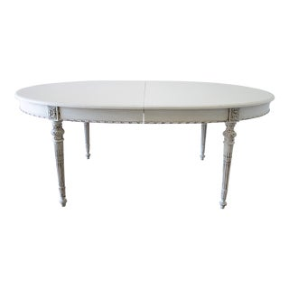 20th Century Louis XVI Style Dining Table With Leaves For Sale