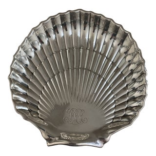 Gorham Sterling Silver Engraved Scallop Shell For Sale
