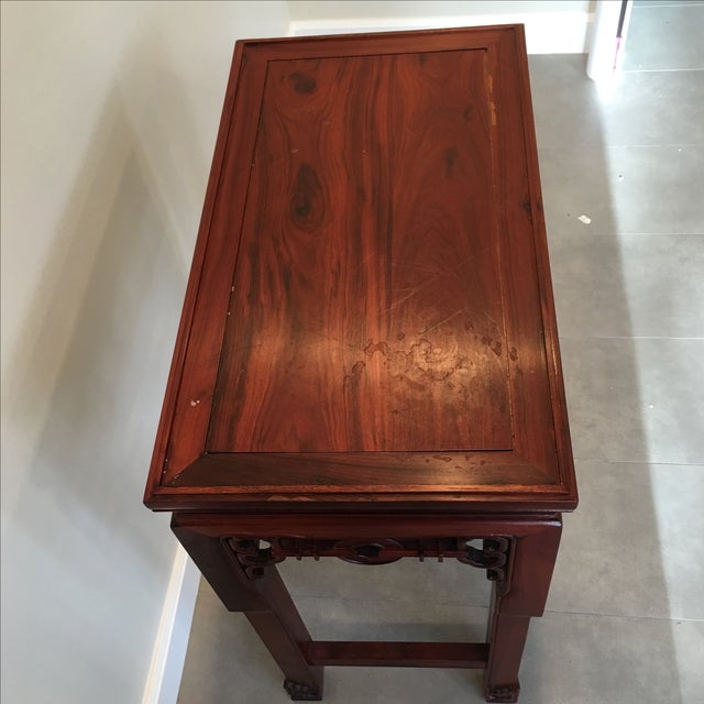 Carved Chinese Rosewood Alter Table For Sale - Image 5 of 11
