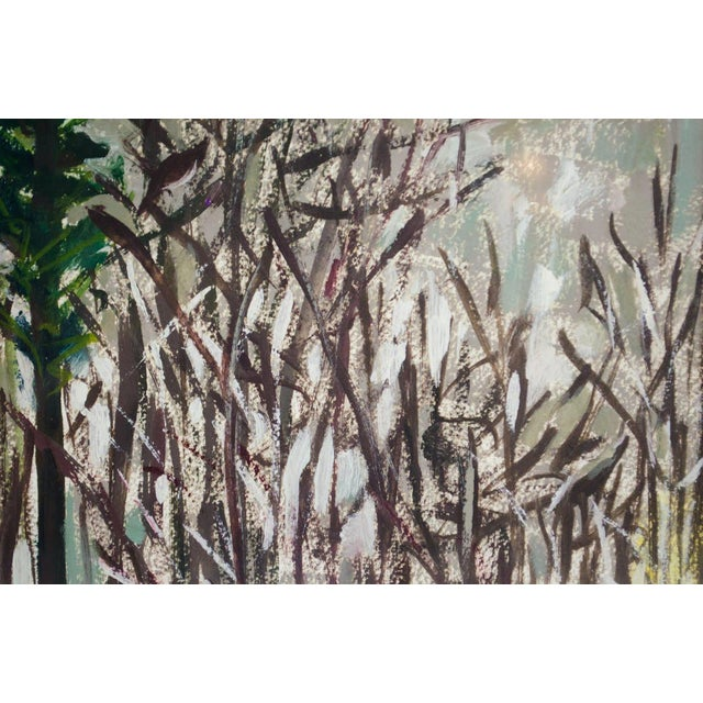 1990s Modern Impressionist Watercolor Mountain Landscape For Sale - Image 5 of 11