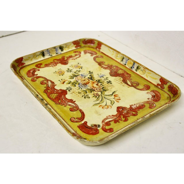 French 1940s Occupied Japan Papier Mache Tray For Sale - Image 3 of 7