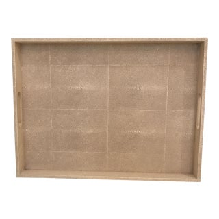 Large Faux Shagreen Tray