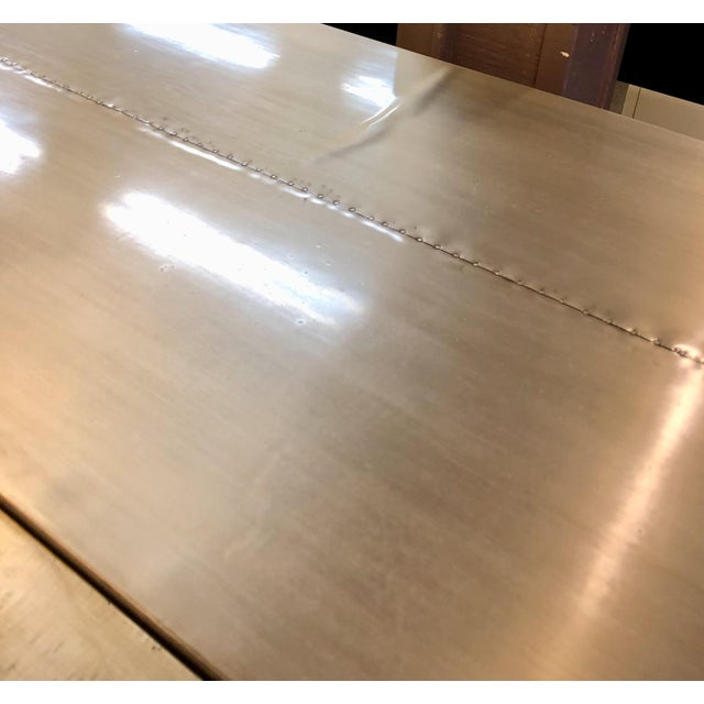 A Secret Warehouse Contemporary Silver Buffet Sideboard For Sale - Image 4 of 5