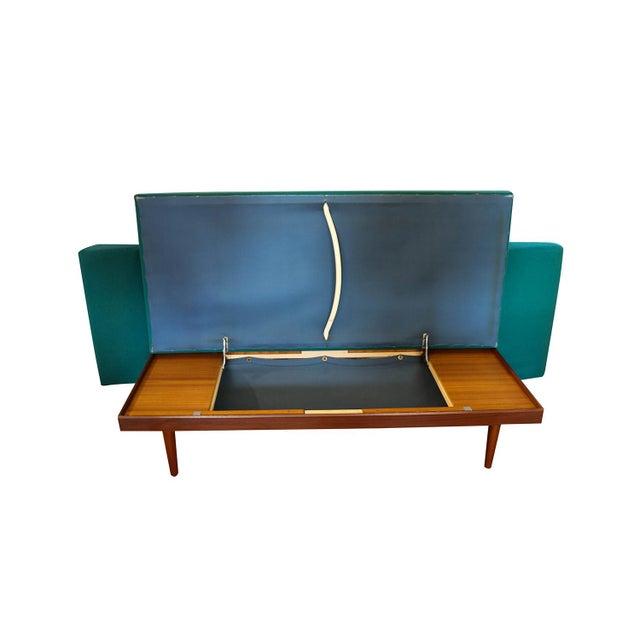 Gustav Bahus Norwegian Modern Teak Daybed Sofa Pull Out Tables Edvard Kindt Larsen for Gustav Bahus For Sale - Image 4 of 10