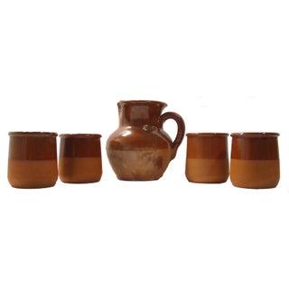 Vintage French Terracotta Wine/Cider Set - S/5