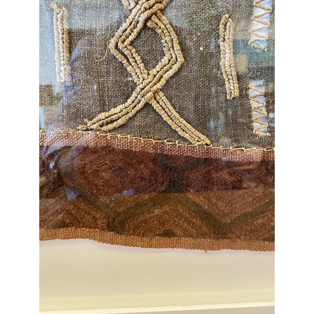 Mounted Vintage Shoowa Kuba Cloth Panel For Sale - Image 4 of 10