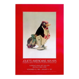 """"""" Jouets Americains 1925 - 1975 """" Rare 1980 Lithograph Print Vintage Toys Museum Exhibition Poster For Sale"""