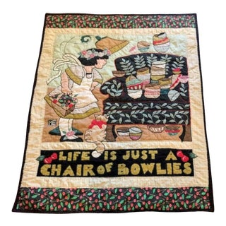 1960s Pictorial Crib Quilt For Sale