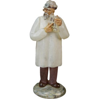 Vintage School Doctor Murano Art Glass Figure