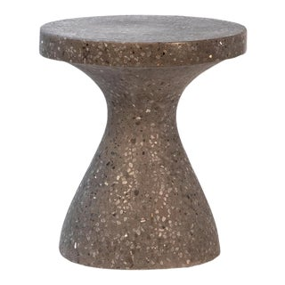 Dark Terrazzo Hourglass Side Table For Sale