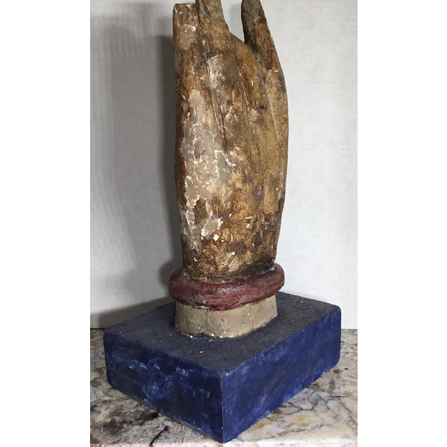Chinese Wood Buddha Hand Carving For Sale - Image 5 of 10