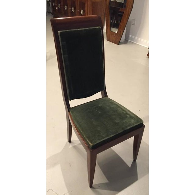 Gaston Poisson Numbered French Art Deco Dining Chairs - Set of 6 - Image 2 of 5