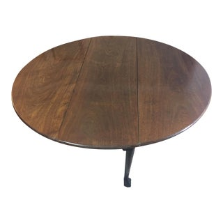 18th Century George III Mahogany Dropleaf Table For Sale