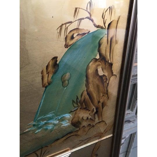 1970s 1970's Vintage La Barge / LaBarge Chinoiserie Églomisé Mirror For Sale - Image 5 of 11