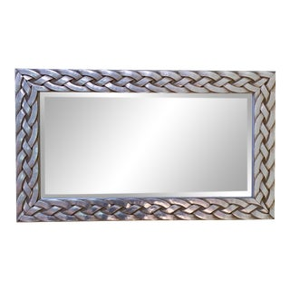 Brushed Aluminum Braided Mirror For Sale