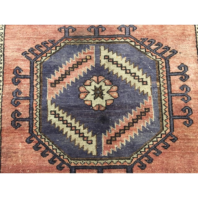 "Vintage Turkish Oushak Runner - 4'4""x9'11"" - Image 5 of 10"