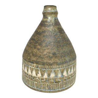 1960s Scandinavian Modern Hald Soon Studio Ceramic Bottle Vase For Sale
