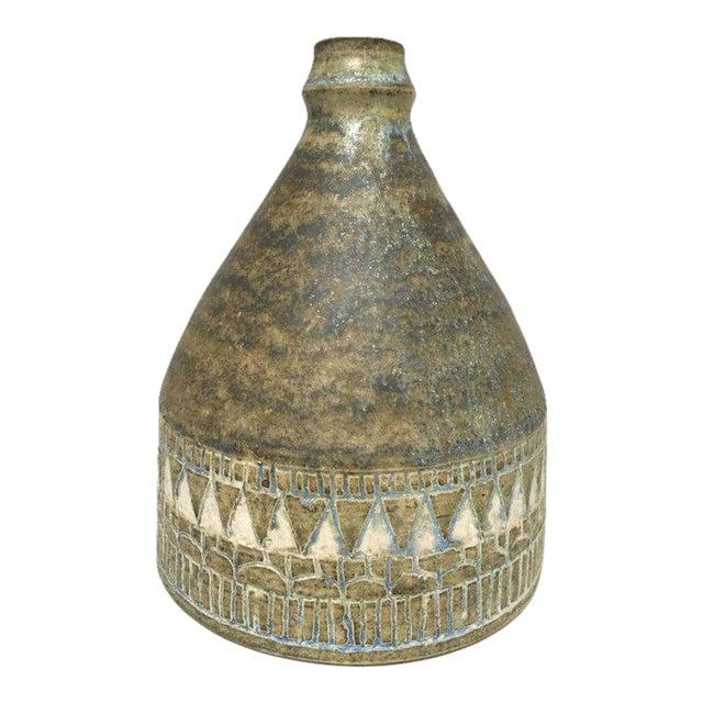 1960s Scandinavian Modern Hald Soon Studio Ceramic Bottle Vase For Sale