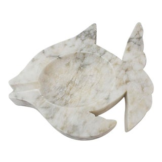 Italian Alabaster Fish Catchall For Sale