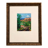 "Image of Vintage Framed Abstract South of Taos II"" Landscape Art by Barbara Clark For Sale"