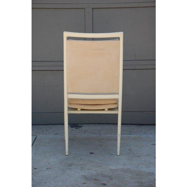 Mid-Century Modern Pair of Exceptional Bone Lacquer Armchairs by Vladimir Kagan For Sale - Image 3 of 10