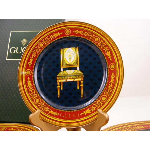 Gucci Porcelain Chair Plates - Set of 4 For Sale In New York - Image 6 of 9