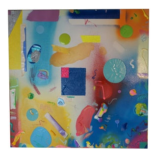 """2013 Kristina Zallinger """"You Crack Me Up"""" Abstract Painting For Sale"""